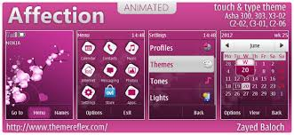 themes for nokia c2 touch and type affection animated theme for nokia asha 303 x3 02 c2 02 touch