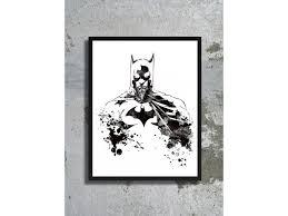 halloween art prints art print batman watercolor batman poster batman costume halloween