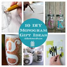 10 diy monograms for giving dollar store crafts