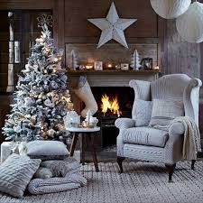 homes interiors and living 03 christmas living room with knitted chair cover country homes