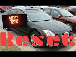 service engine soon light nissan maxima how to reset service engine soon light on a 2008 nissan maxima