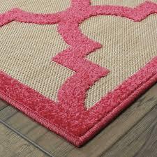 5x8 Outdoor Patio Rug Stylehaven Lattice Sand Pink Indoor Outdoor Area Rug 5 U00273x7 U00276 By