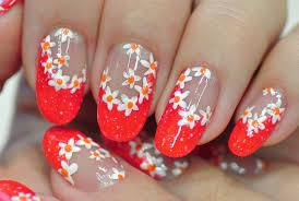 nail art flower nail art toe designs hawaiian no tool step by