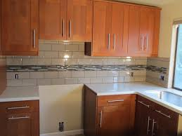 tile backsplash kitchen ideas kitchen blue cabinet one wall kitchen with white backsplash tile