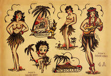 sailor jerry print art ebay