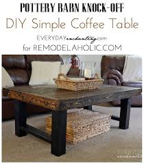 How To Build Wood End Tables by Diy Simple Wood Slab Coffee Table Remodelaholic Bloglovin U0027