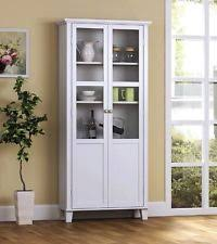 Bookcase Pantry Kitchen Storage Cabinet Dining Room Buffet China Wood Cupboard