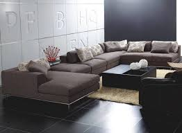 sofa contemporary sectional sofas double chaise sectional brown