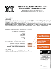 Constancias De Intereses Infonavit 2015   constancia de crédito hipotecario y tu declaración anual idc