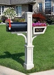 cast aluminum mailbox post foter