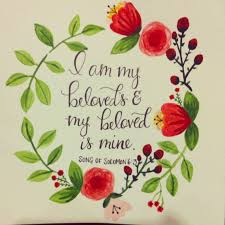 i am my beloved 8x8 original watercolor i am my beloved s my beloved is mine
