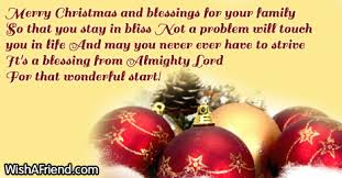 merry and blessings for your blessings