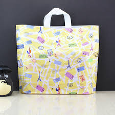 sale new style clothes large plastic gift bags with handles