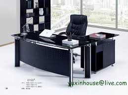 Office Furniture Desks Modern by Tempered Glass Office Desk Boss Desk Table Commercial Office
