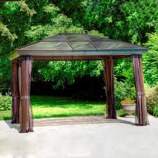 8x8 Gazebos by Ideas Stunning Brown Lowes Gazebos With Light Steam Brown Canopy
