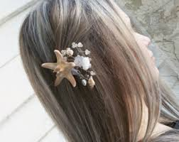 starfish hair clip starfish hair clip pale aqua starfish hair accessories