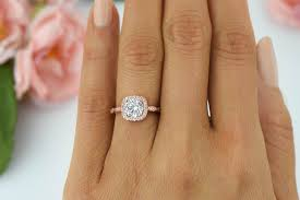 silver engagement ring gold wedding band 1 25 ctw halo engagement ring made diamond simulants