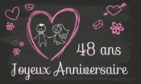 48 ans de mariage carte anniversaire mariage 48 ans tableau