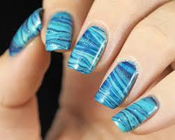 black marble nail art design
