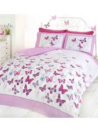 pink butterfly duvet cover quilt bedding set pink u0026 white
