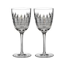 waterford lismore white wine set of 2 waterford