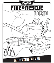 print free colouring sheets dusty planes coloring