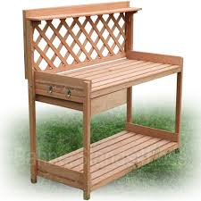 Merry Garden Potting Bench by Outdoor Garden Work Benches Innovation Pixelmari Com
