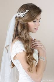 bridal hair pieces wedding hairpieces tulle chantilly wedding