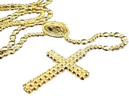 gold rosary mens 10k yellow gold rosary canary diamond chain 10 0 ct necklace
