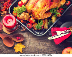 thanksgiving table with turkey thanksgiving dinner thanksgiving table served turkey stock photo