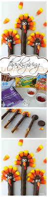 turkey pretzels thanksgiving food craft
