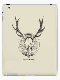 deer skull tattoo ipad case