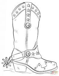 printable cowboy coloring pages with boots eson me