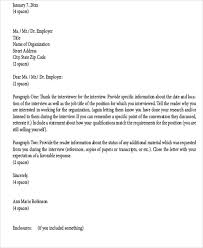 sample thank you letter to recruiter 6 examples in word pdf
