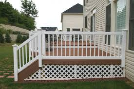 vinyl deck railing lowes deck railing kits lowes baers staircase