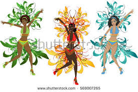 carnival brazil costumes illustration style carnival costumes stock vector