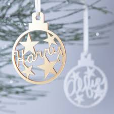 personalised tree decorations and baubles