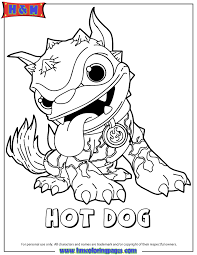 skylanders giants fire dog series1 coloring u0026