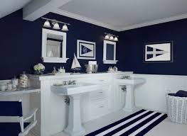 Bathroom Endearing Nautical Blue Small Navy Blue Bathroom Ideas Christmas Lights Decoration