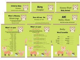baby shower games u0026 activities magical printable
