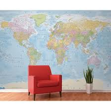 world map mural 2 sizes the inside world map mural 2 sizes