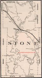 Map Missouri Stone County Missouri Map 1904 Galena Notch Blue Eye Crane