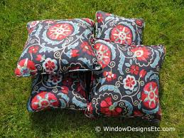Suzani Fabric Chair Red White Blue Pillows For Summer Decorating