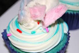 monster mama cotton candy cupcakes