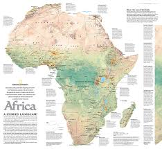 africa map africa a storied landscape map