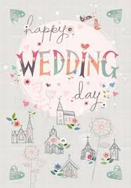 happy wedding day happy wedding day card large wedding card karenza paperie