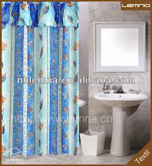 Double Shower Curtains With Valance Print Double Swag Shower Curtain With Valance Print Double Swag