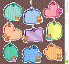 Invitation Card Maker Free Download Cute Bear Frames Set Stock Photography Image 30293132