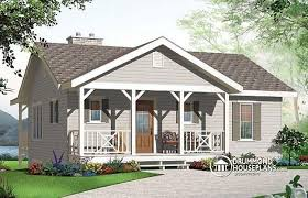w3955 affordable simple scandinavian style lakefront home plan