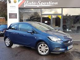 vauxhall corsa blue used 2015 vauxhall corsa excite ac 3dr one owner nice spec for